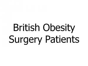 British Obesity Surgery Patients
