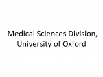 Medical Sciences Division, University of Oxford